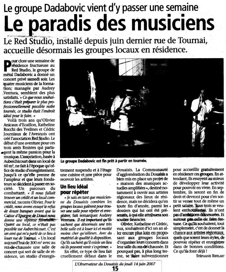 L'Observateur du Douaisis, 14/06/07