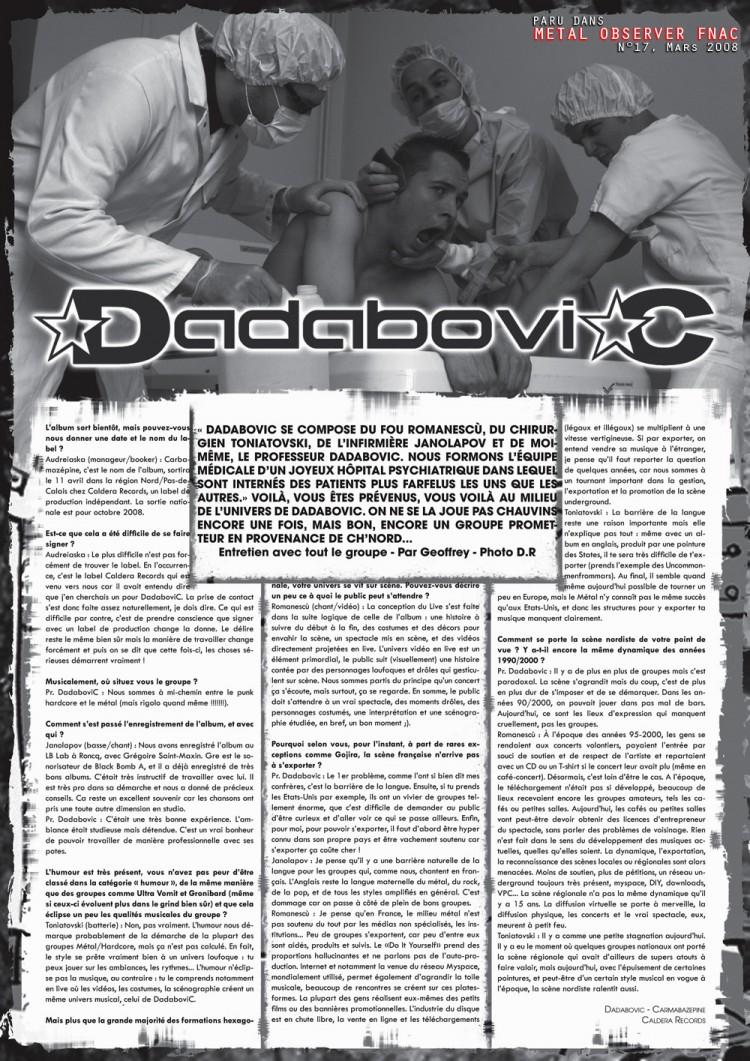 Metal Observer FNAC n°17, Mars 2008